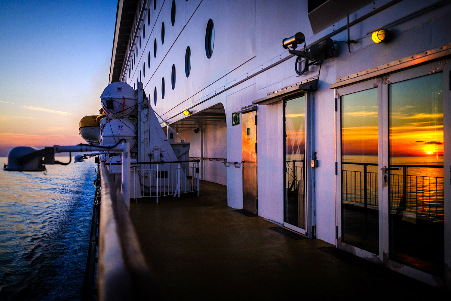 Sunset Colorline ferry- Norway