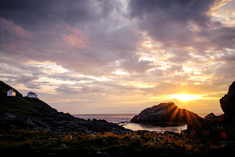 Sunset - Kråkenes lighthouse - Norway